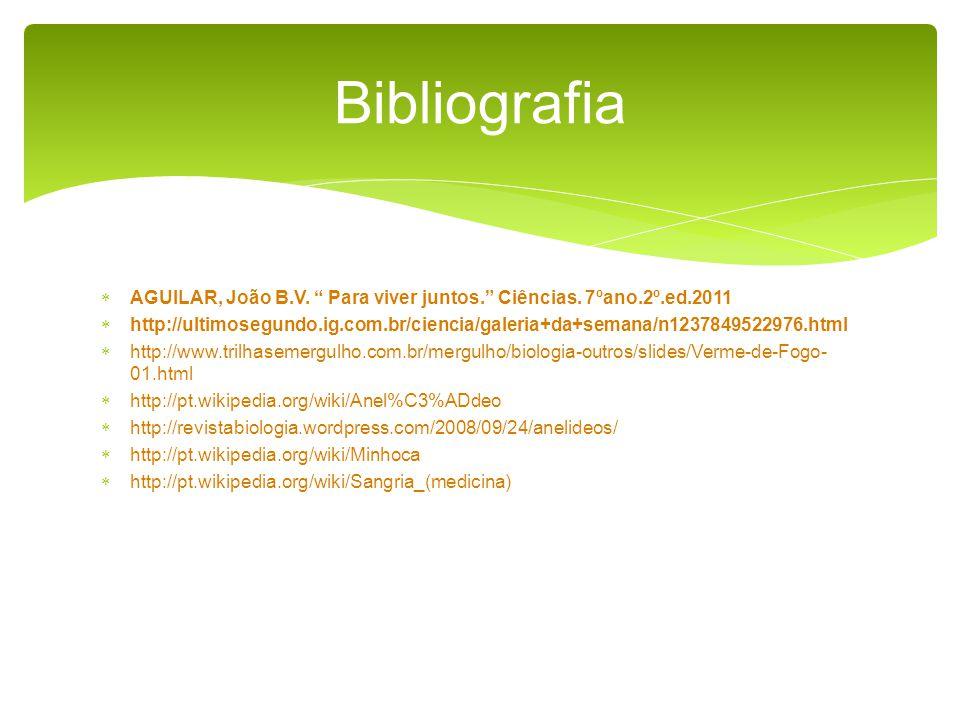 AGUILAR, João B.V.Para viver juntos. Ciências.