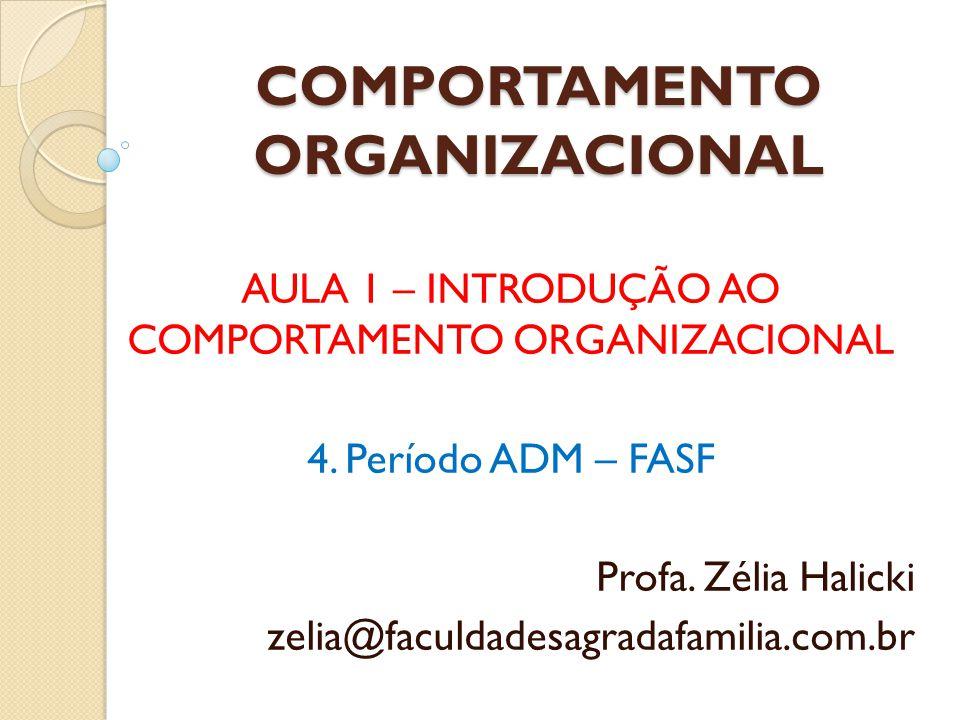 COMPORTAMENTO ORGANIZACIONAL Campo de estudos que investiga o impacto que indivíduos, grupos e a estrutura têm sobre o Comportamento dentro das Organizações, com o propósito de utilizar esse conhecimento para promover a melhoria da eficácia organizacional.