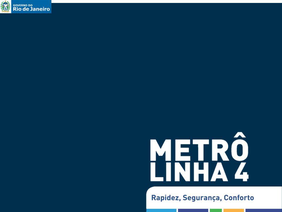 N Sra Paz J Alah Gávea A Quental Estacionamento G Osório Cantagalo Metrô Linha 4 – Trecho Sul Panorama de intervenções Canteiros de obrasOperações diferenciadas