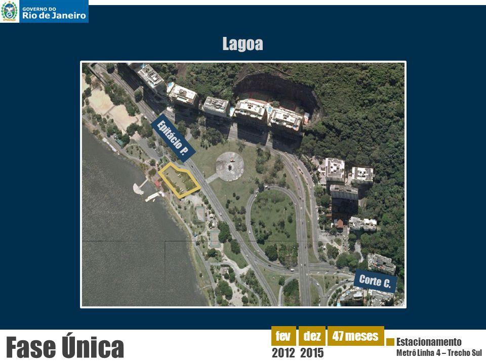 Lagoa Corte C. Epitácio P. 2012 fev Estacionamento Metrô Linha 4 – Trecho Sul dez 2015 47 meses Fase Única