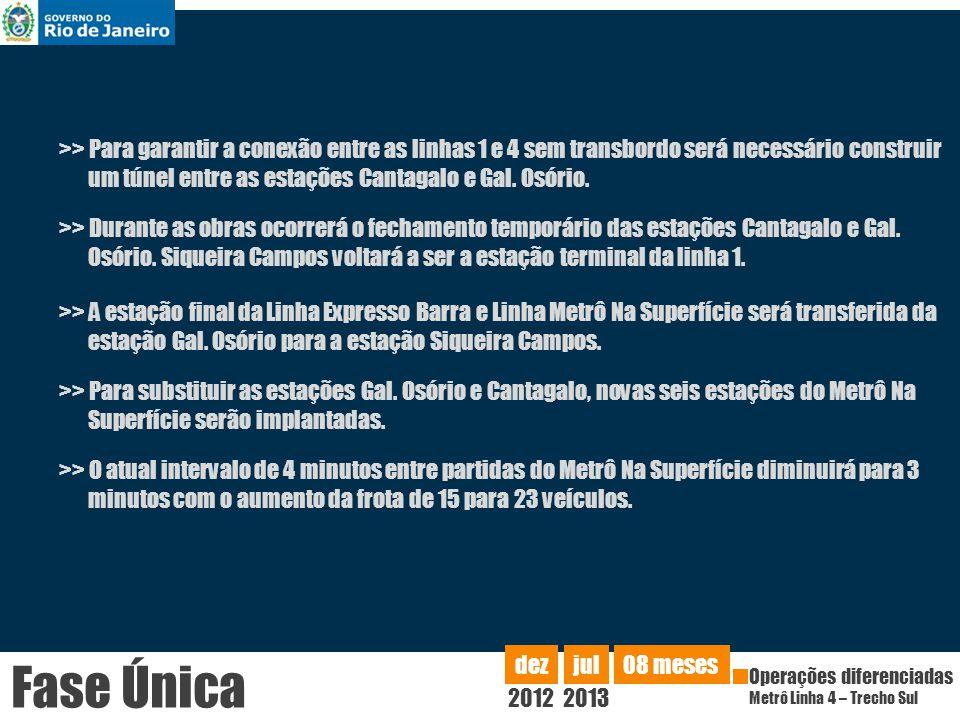 >> A estação final da Linha Expresso Barra e Linha Metrô Na Superfície será transferida da estação Gal.