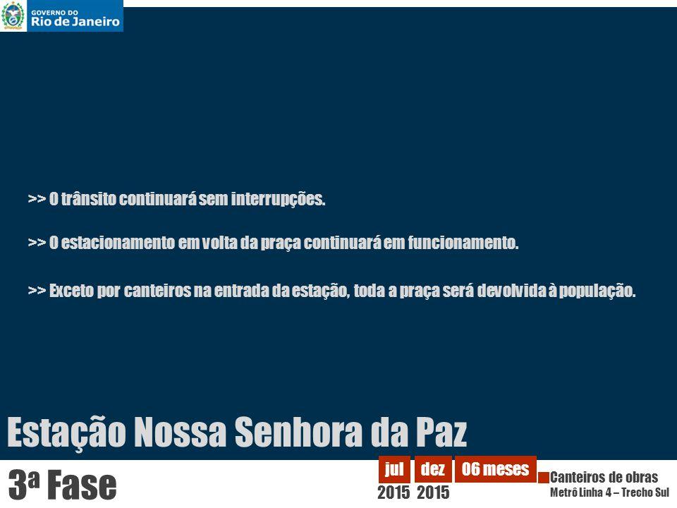 Estação Gávea 2012 fev Canteiros de obras Metrô Linha 4 – Trecho Sul nov 2012 10 meses 1 a Fase >> O edíficio da incubadora de empresas da PUC será transferido para outra área no mesmo terreno.
