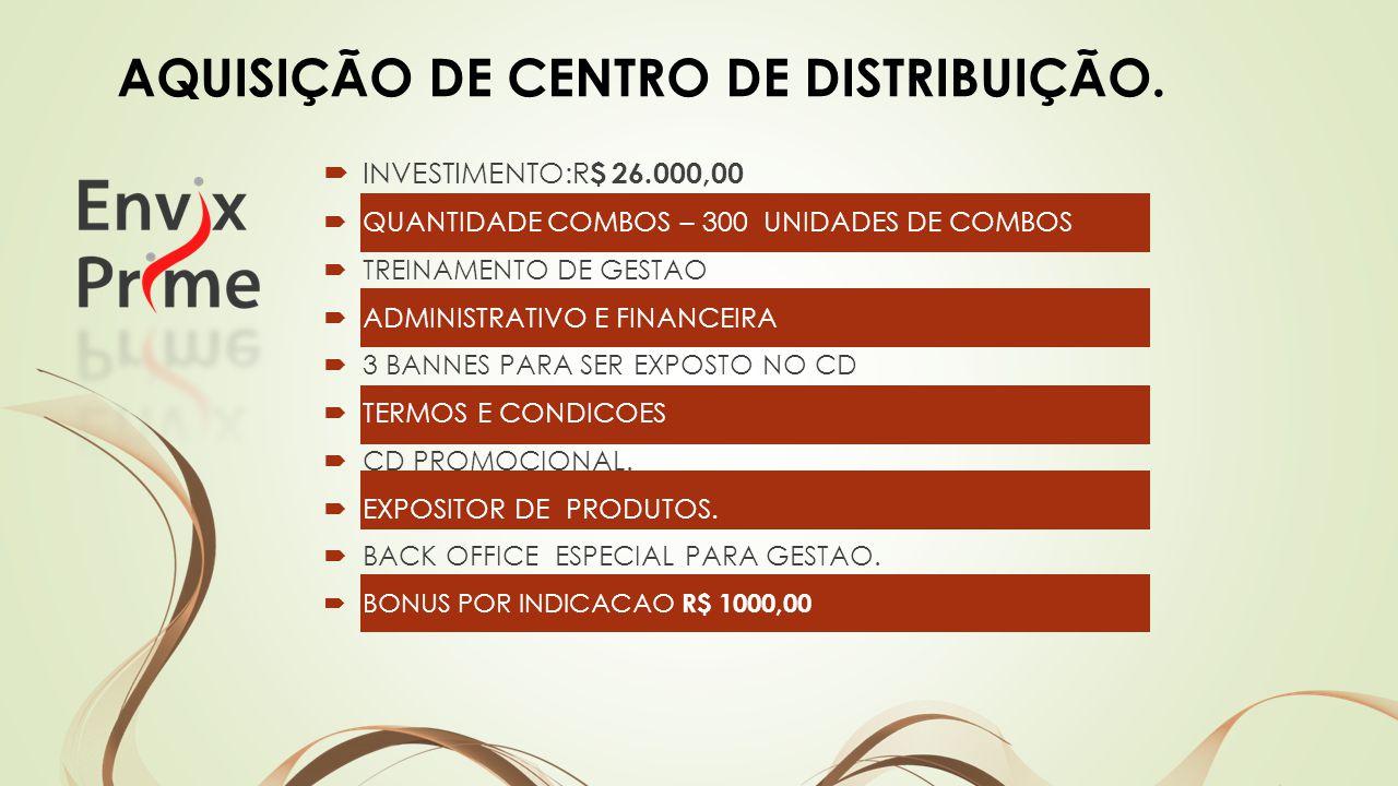 INVESTIMENTO:R $ 26.000,00 QUANTIDADE COMBOS – 300 UNIDADES DE COMBOS TREINAMENTO DE GESTAO ADMINISTRATIVO E FINANCEIRA 3 BANNES PARA SER EXPOSTO NO CD TERMOS E CONDICOES CD PROMOCIONAL.