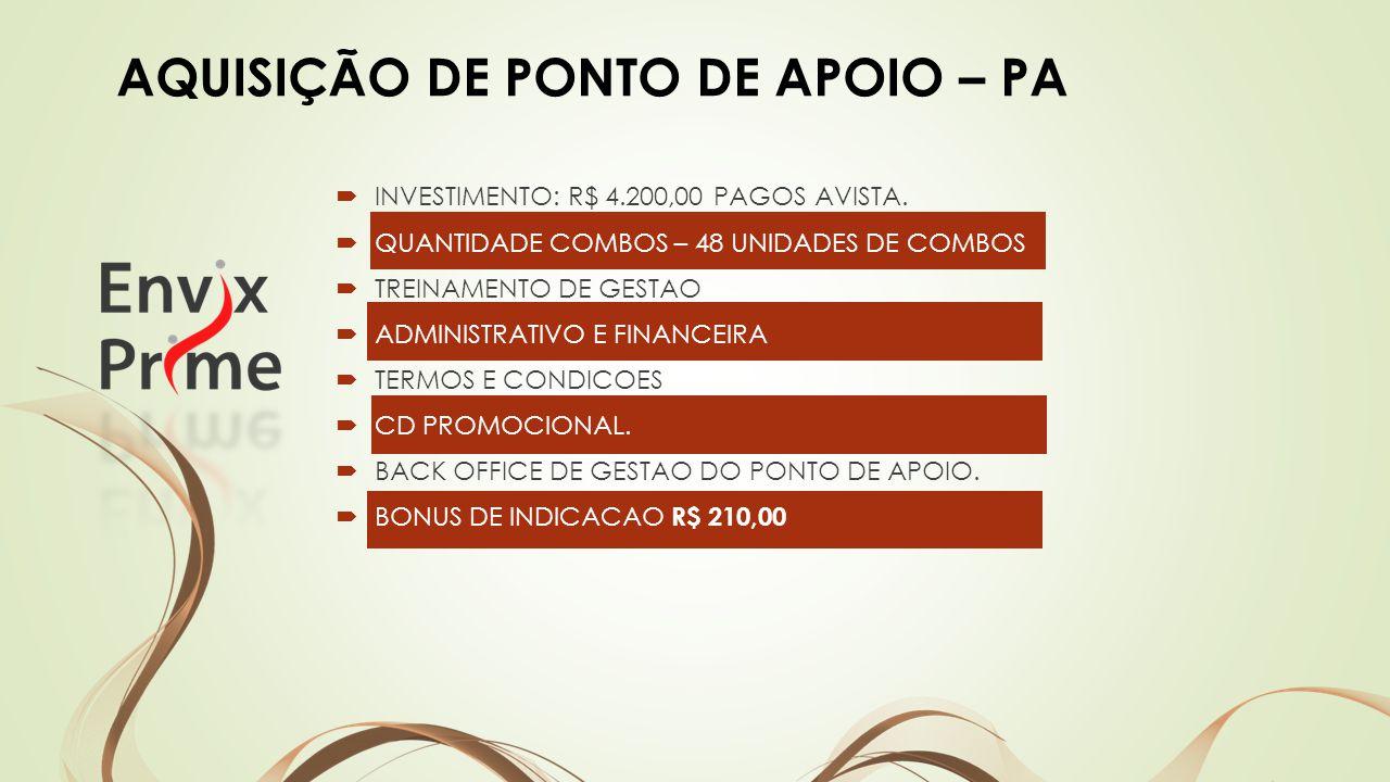 INVESTIMENTO: R$ 4.200,00 PAGOS AVISTA.