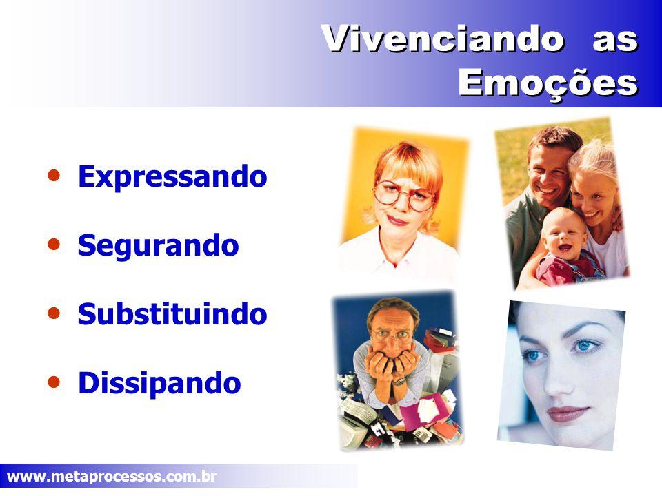 www.metaprocessos.com.br Vivenciando as Emoções Expressando Segurando Substituindo Dissipando