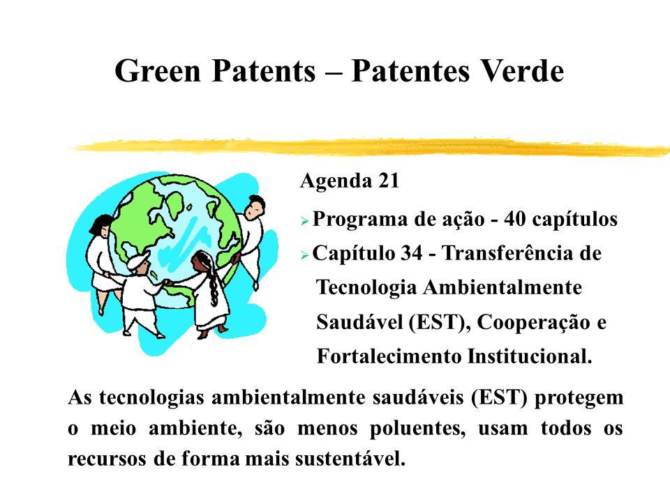 Green Patents – Patentes Verde Agenda 21 Programa de ação - 40 capítulos Capítulo 34 - Transferência de Tecnologia Ambientalmente Saudável (EST), Coop