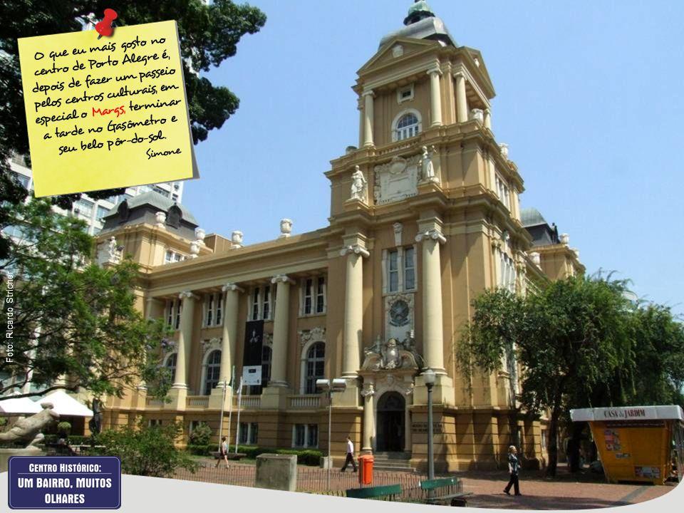O que eu mais gosto no centro de Porto Alegre é, depois de fazer um passeio pelos centros culturais, em especial o Margs, terminar a tarde no Gasômetr