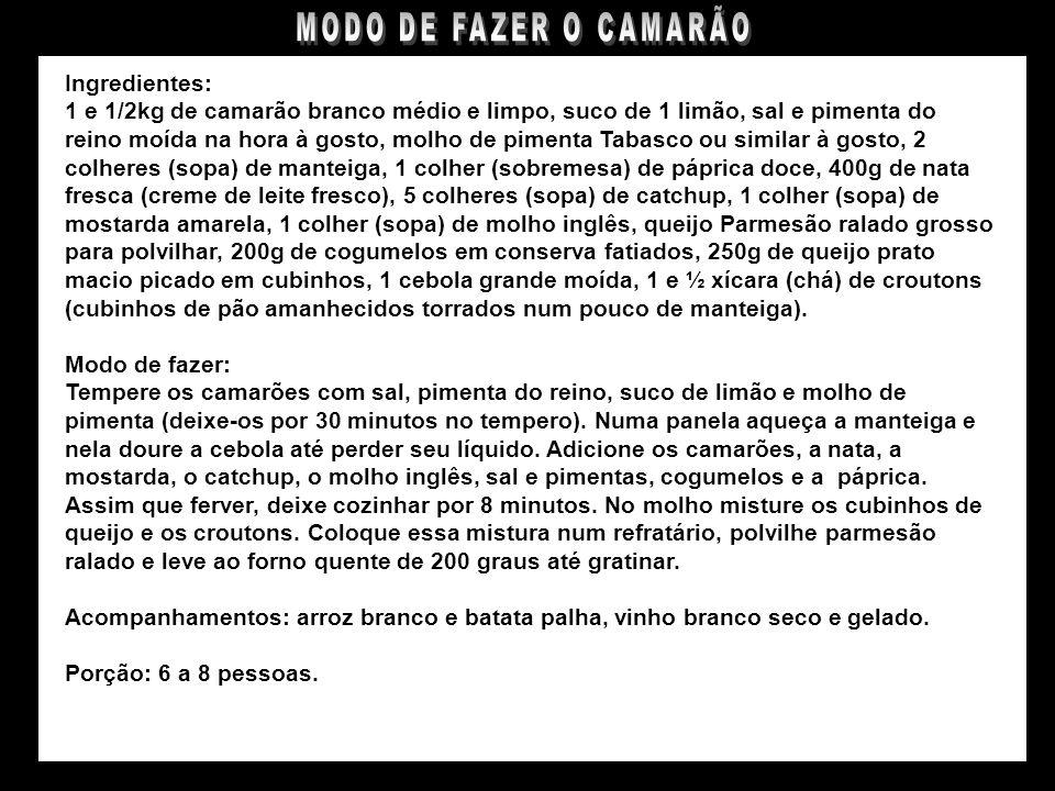 CAMARÃO À PASCHOAL