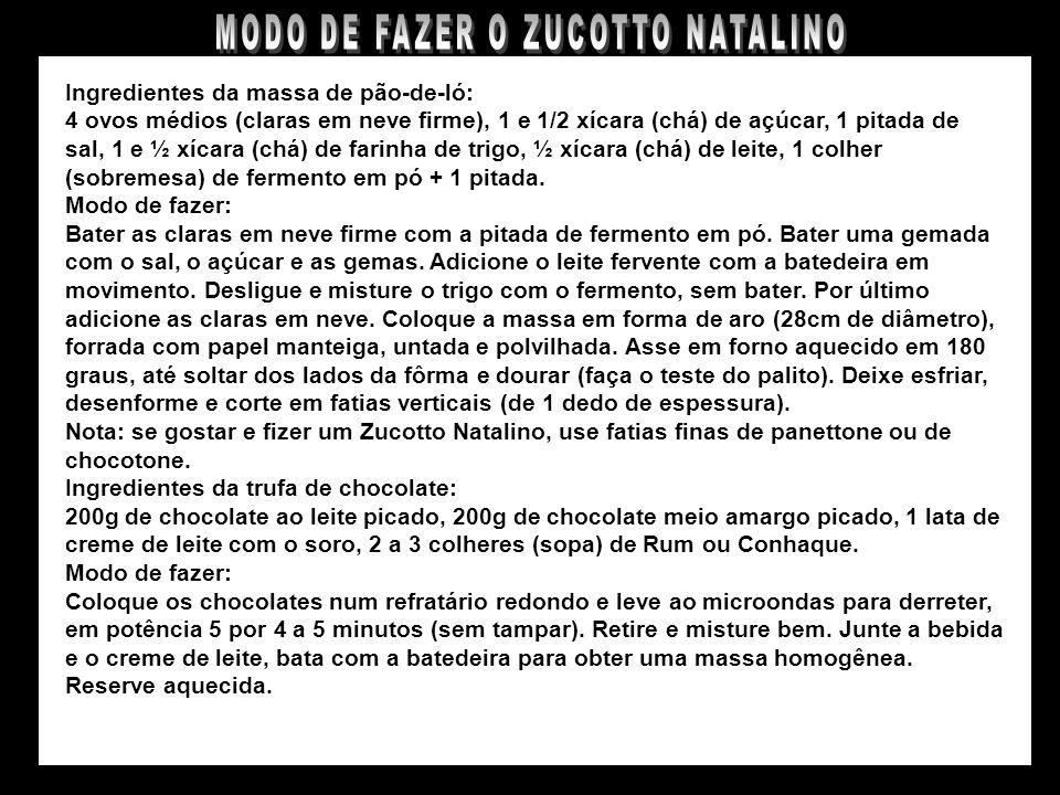 ZUCOTTO NATALINO COM RECHEIO DE TRUFA DE CHOCOLATE E SORVETE HOLANDÊS