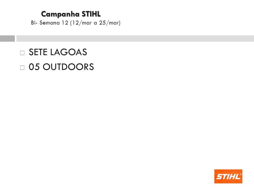 SETE LAGOAS 05 OUTDOORS Campanha STIHL Campanha STIHL Bi- Semana 12 (12/mar a 25/mar)