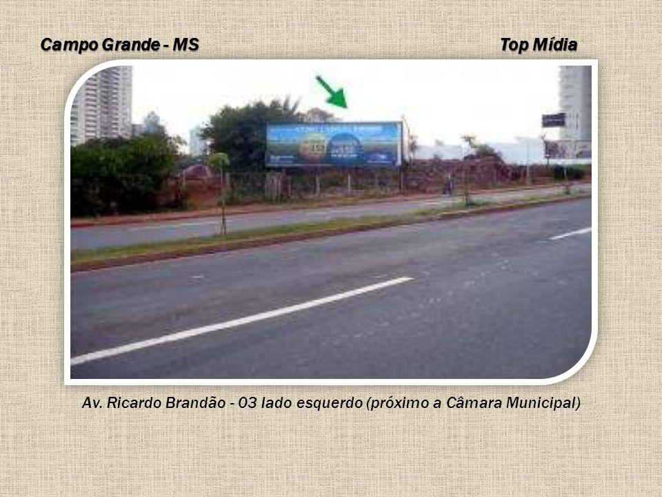 Campo Grande - MS Av. Ricardo Brandão - 03 lado esquerdo (próximo a Câmara Municipal) Top Mídia