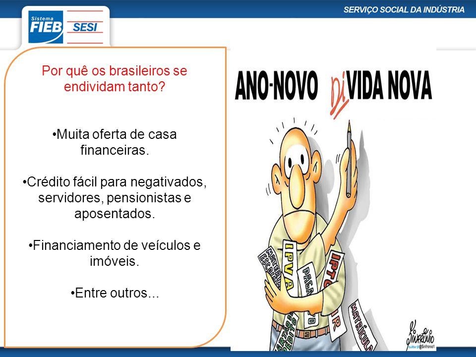 Por quê os brasileiros se endividam tanto? Muita oferta de casa financeiras. Crédito fácil para negativados, servidores, pensionistas e aposentados. F