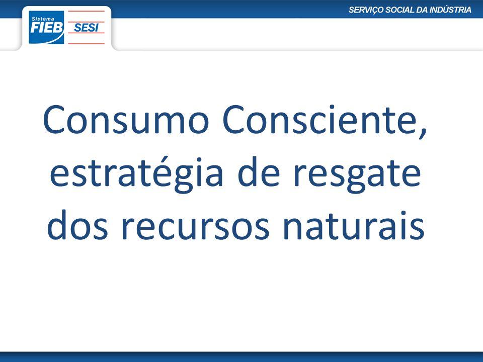 Consumo Consciente, estratégia de resgate dos recursos naturais
