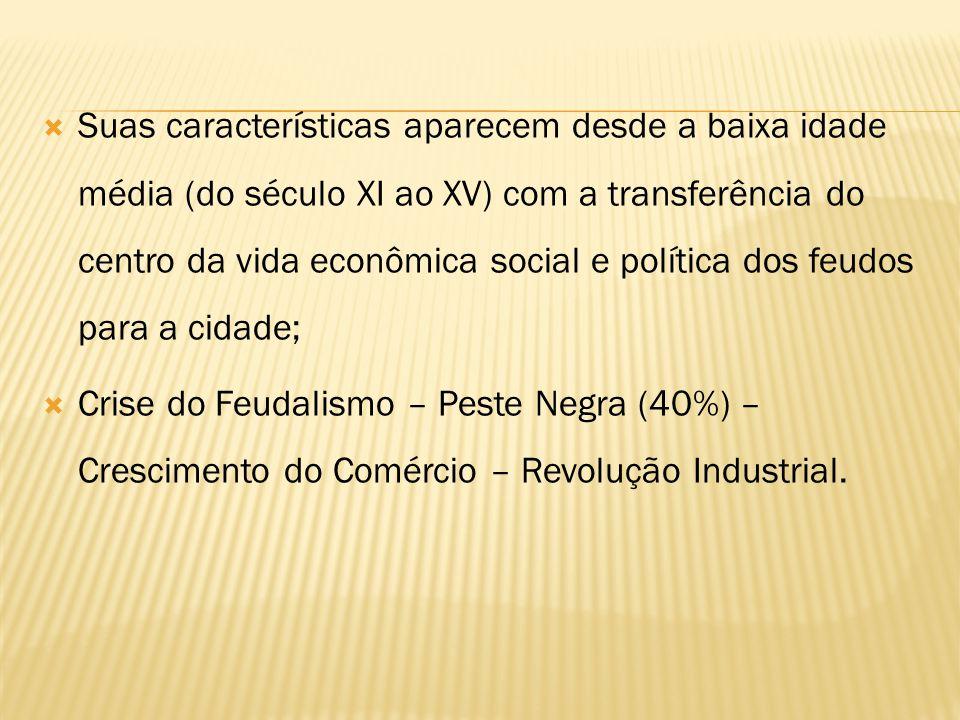 1ª Fase - Revolução Industrial (Inglaterra – Europa – Estados Unidos) 2ª Fase – A partir da Primeira Guerra mundial - o mercado internacional restringiu-se; a concorrência americana derrotou a posição das organizações econômicas européias e impôs sua hegemonia.