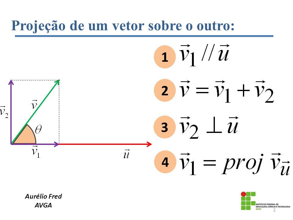 Aurélio Fred AVGA Projeção de um vetor sobre o outro: 1 2 3 4 2