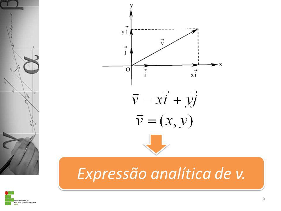Expressão analítica de v. 5