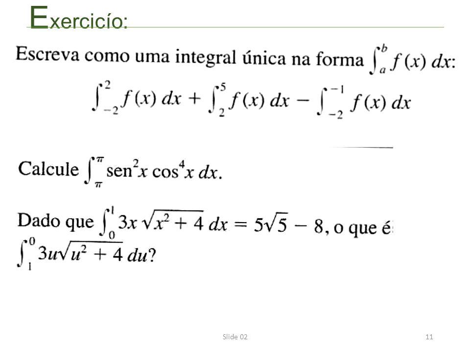 Slide 0211 E xercicío: