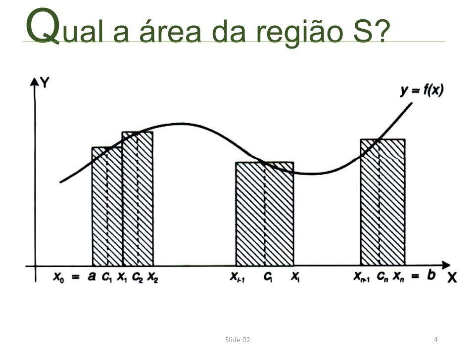 4 Q ual a área da região S?