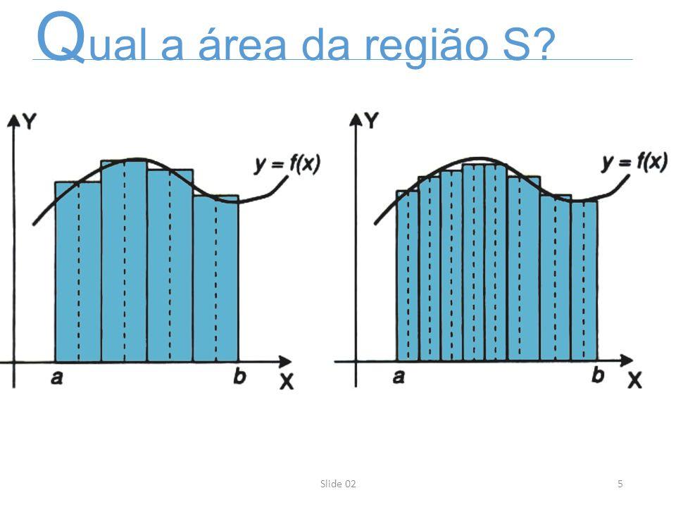 5Slide 02 Q ual a área da região S?