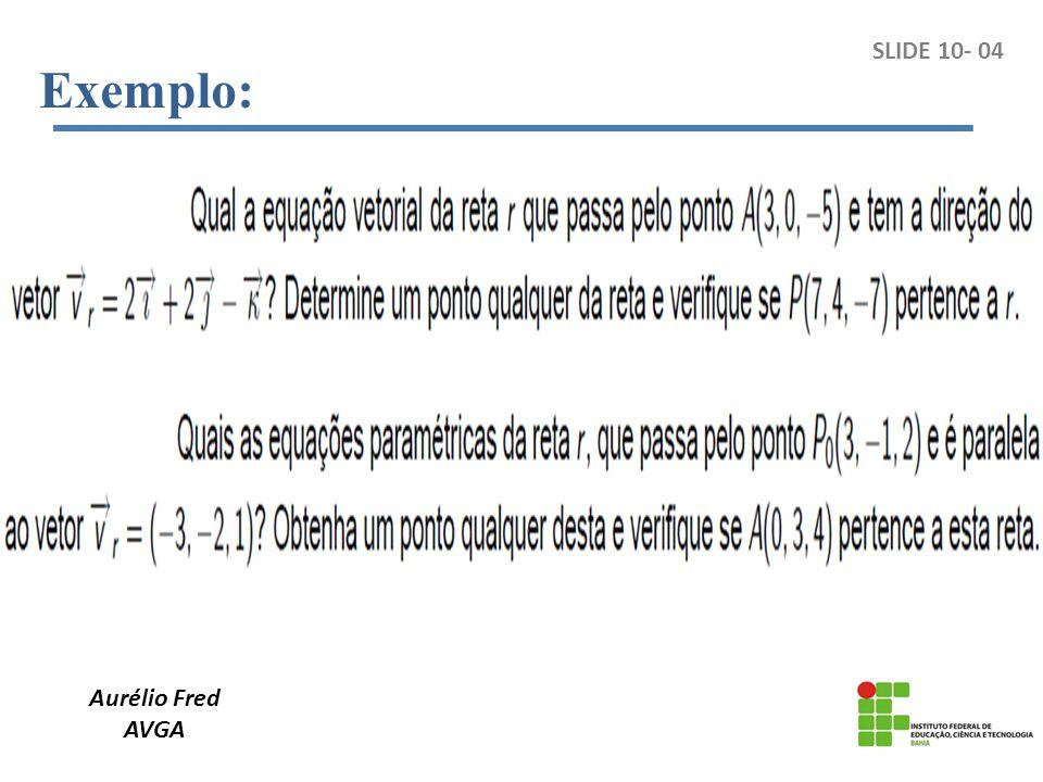 Aurélio Fred AVGA Exemplo: SLIDE 10- 04
