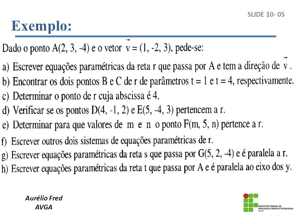 Aurélio Fred AVGA Exemplo: SLIDE 10- 05
