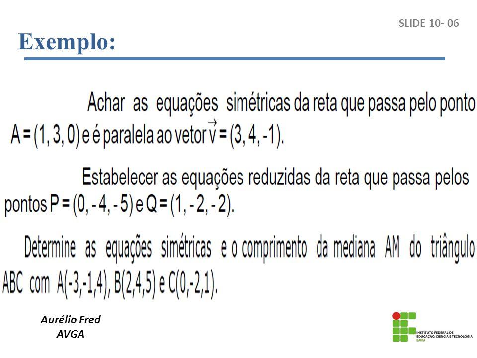 Aurélio Fred AVGA Exemplo: SLIDE 10- 06