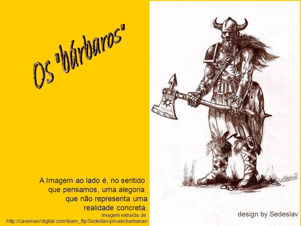 A Imagem ao lado é, no sentido que pensamos, uma alegoria que não representa uma realidade concreta. Imagem extraída de http://caveman/digital.com/tea