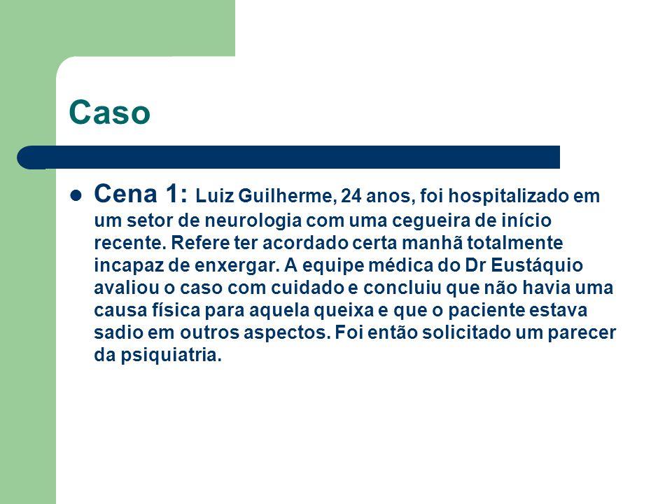 Caso Cena 1: Luiz Guilherme, 24 anos, foi hospitalizado em um setor de neurologia com uma cegueira de início recente.