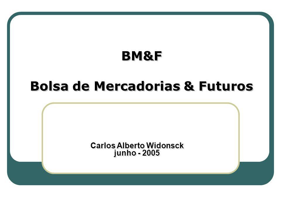 BM&F Bolsa de Mercadorias & Futuros BM&F Bolsa de Mercadorias & Futuros Carlos Alberto Widonsck junho - 2005 Carlos Alberto Widonsck junho - 2005