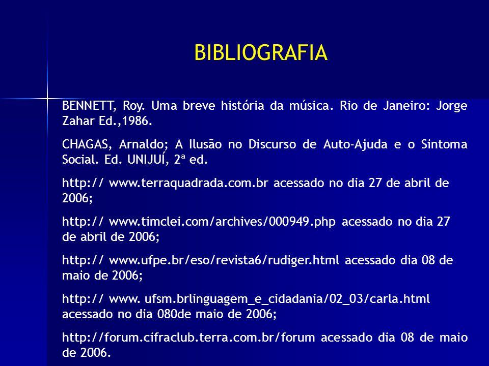 BIBLIOGRAFIA BENNETT, Roy. Uma breve história da música.