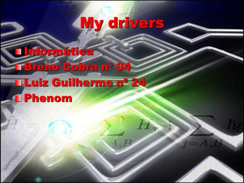 My drivers Informática Breno Cobra nº 04 Luiz Guilherme nº 24 Phenom
