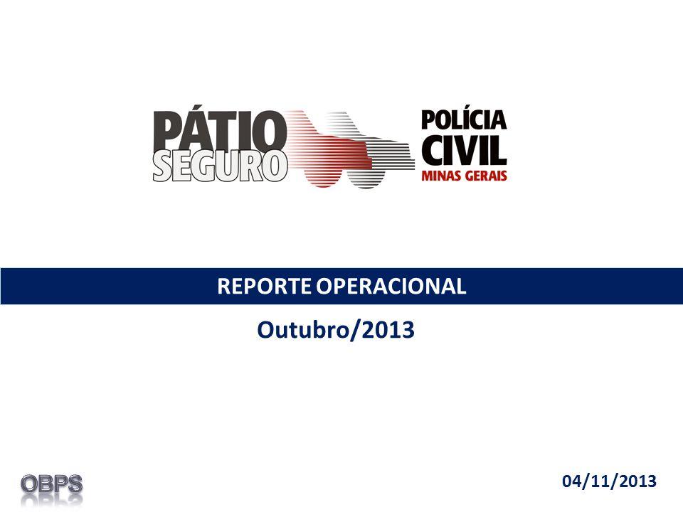 REPORTE OPERACIONAL Outubro/2013 04/11/2013