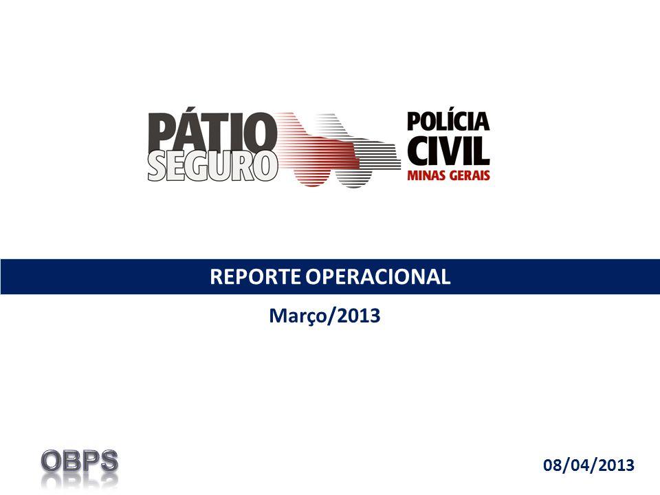REPORTE OPERACIONAL Março/2013 08/04/2013