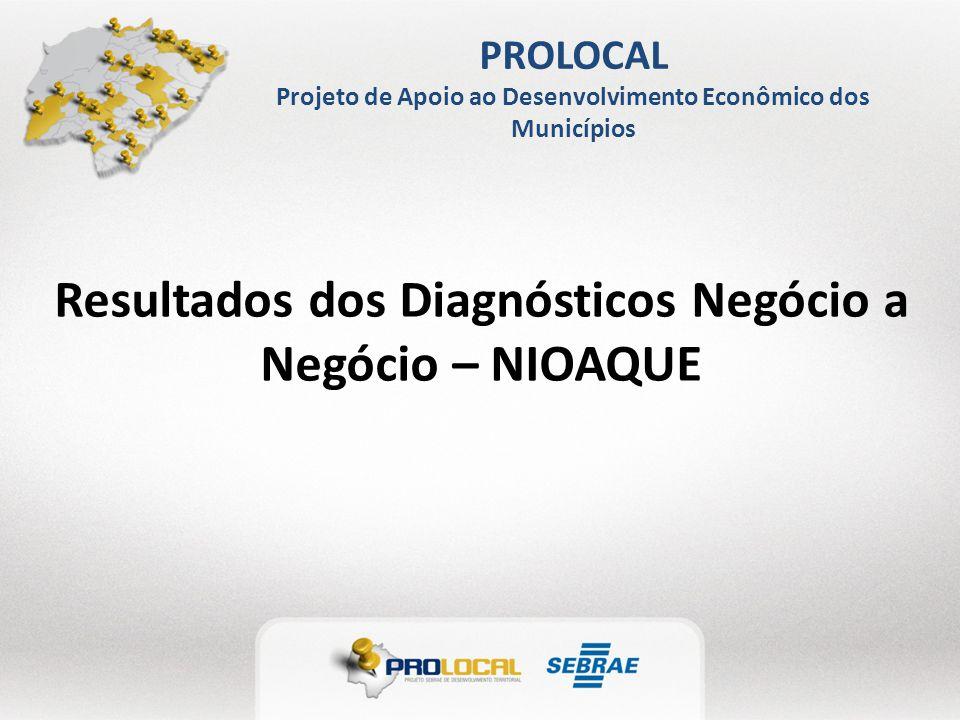 PROLOCAL Projeto de Apoio ao Desenvolvimento Econômico dos Municípios Resultados dos Diagnósticos Negócio a Negócio – NIOAQUE