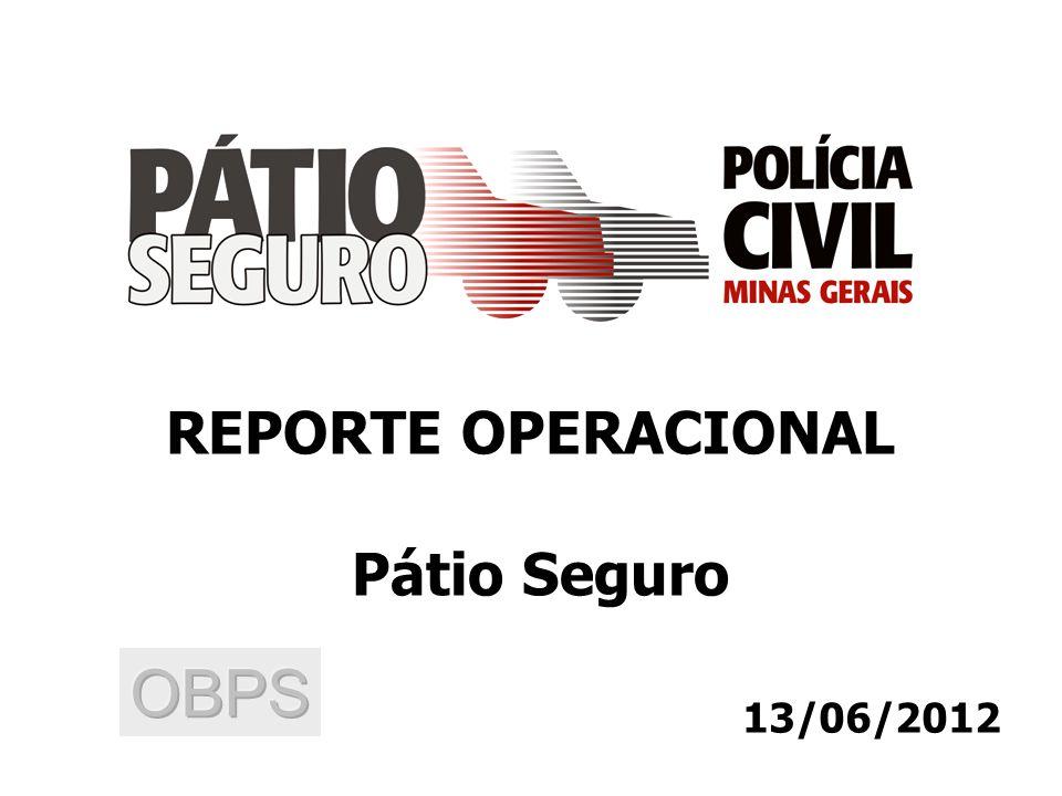 13/06/2012 REPORTE OPERACIONAL Pátio Seguro