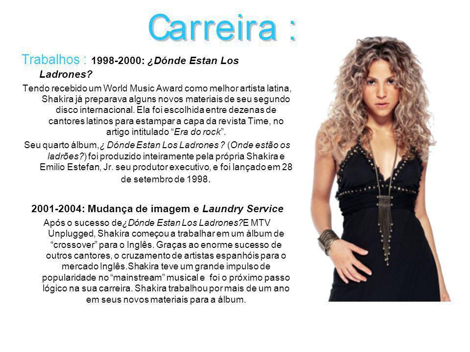 Trabalhos : 2005-2007:Era Fixações Shakira ficou fora dos holofotes por dois anos.