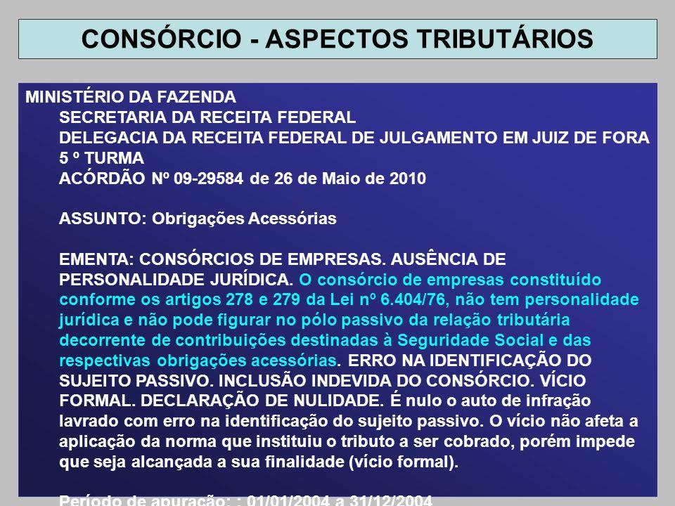 MINISTÉRIO DA FAZENDA SECRETARIA DA RECEITA FEDERAL DELEGACIA DA RECEITA FEDERAL DE JULGAMENTO EM JUIZ DE FORA 5 º TURMA ACÓRDÃO Nº 09-29584 de 26 de