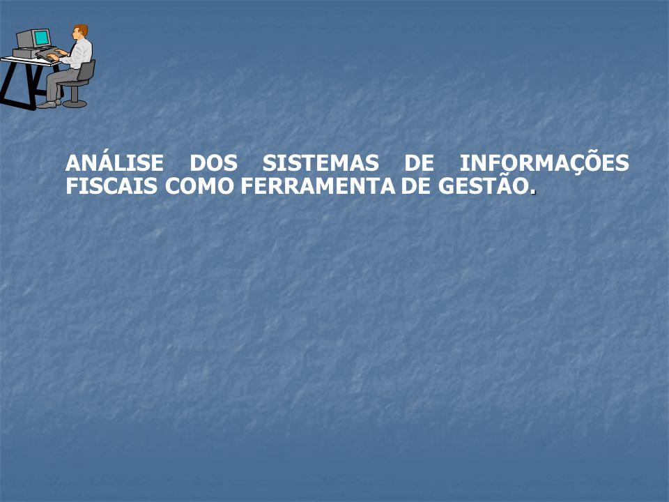 . ANÁLISE DOS SISTEMAS DE INFORMAÇÕES FISCAIS COMO FERRAMENTA DE GESTÃO.