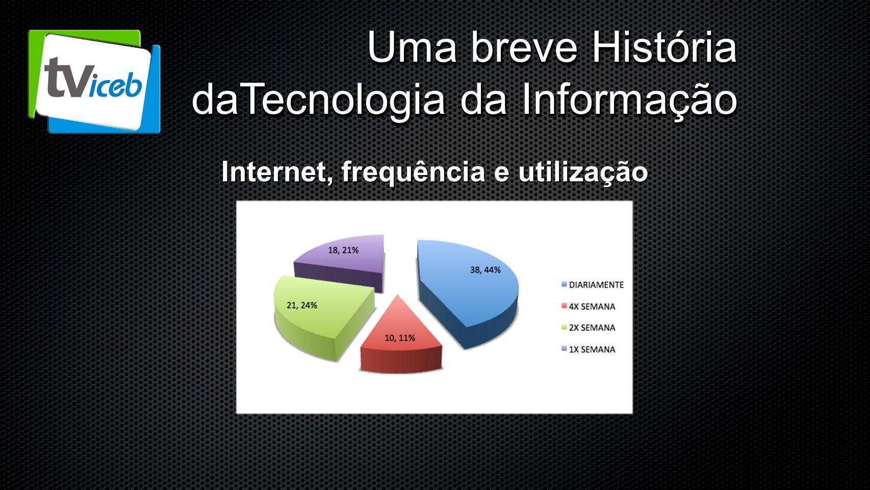 Uma breve História daTecnologia da Informação Internet, frequência e utilização