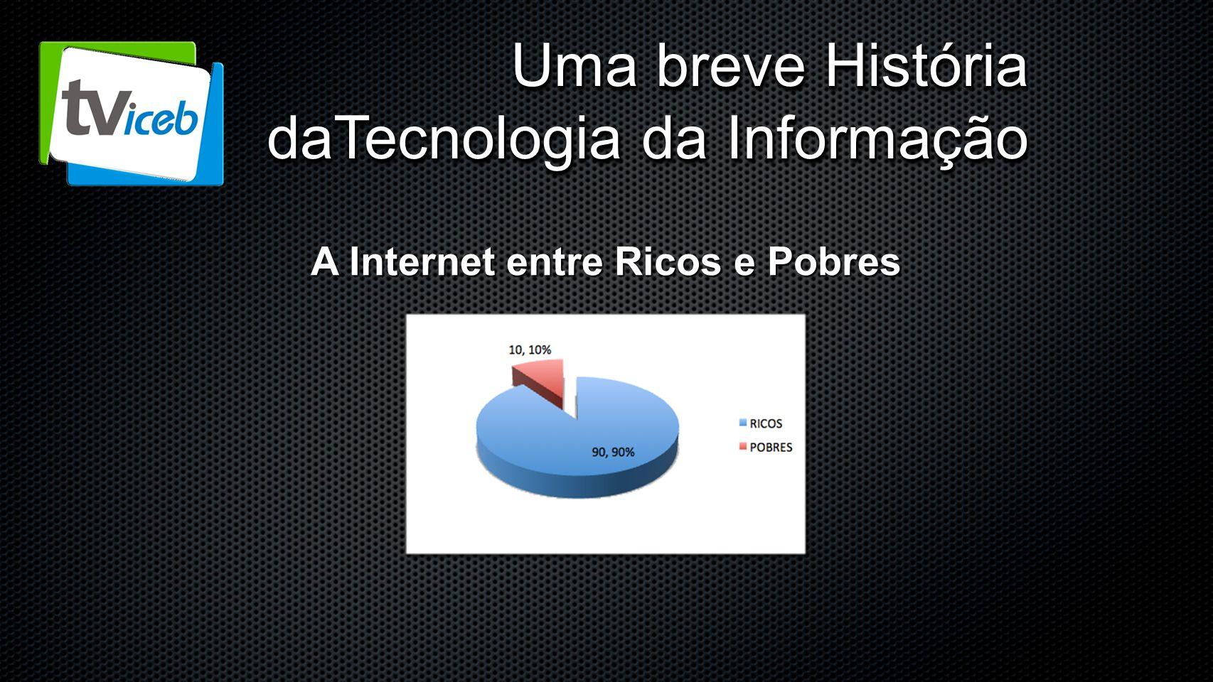 Uma breve História daTecnologia da Informação A Internet entre Ricos e Pobres