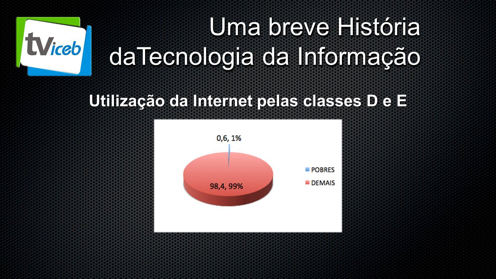 Uma breve História daTecnologia da Informação Utilização da Internet pelas classes D e E