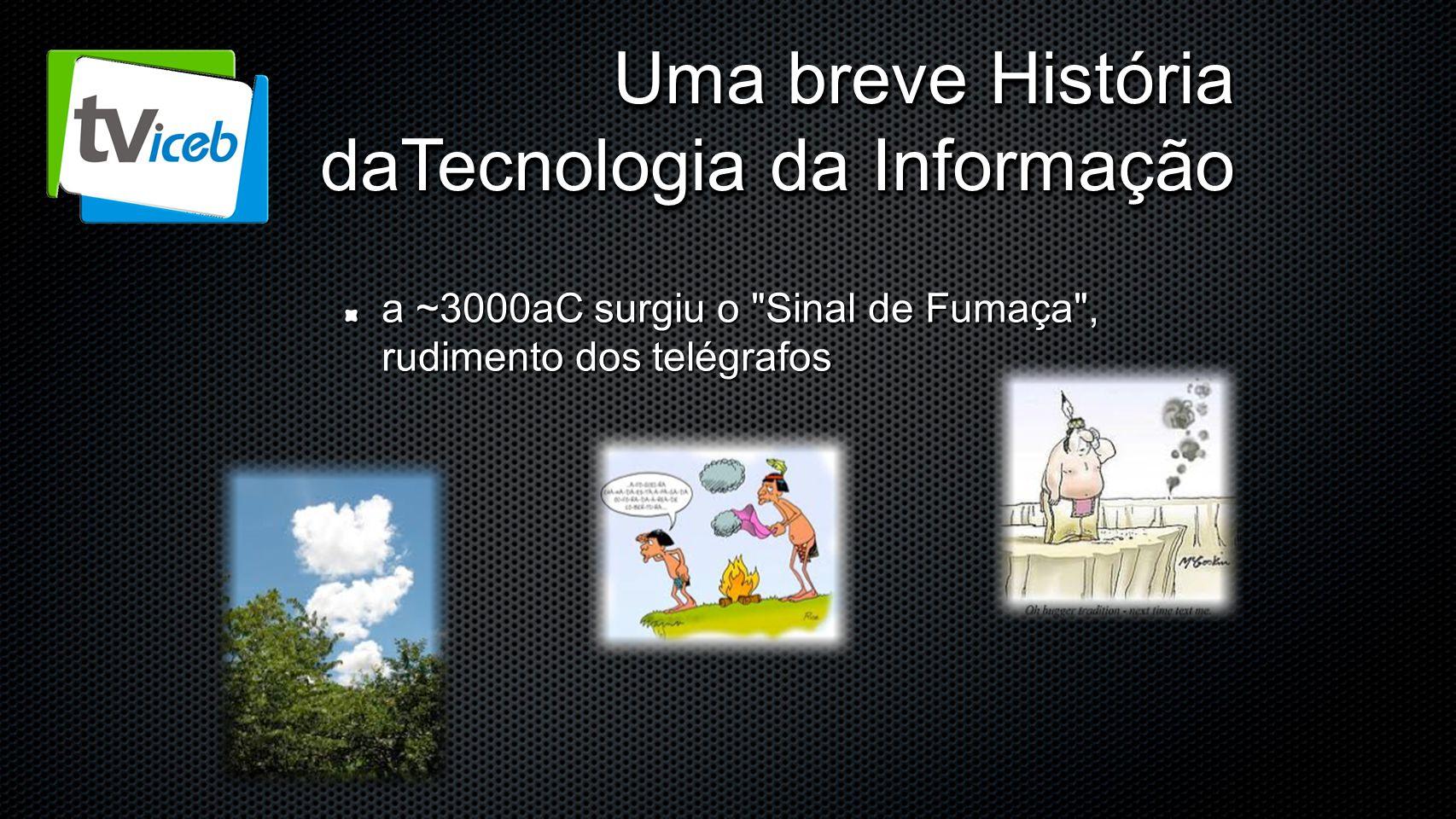 Uma breve História daTecnologia da Informação a ~3000aC surgiu o