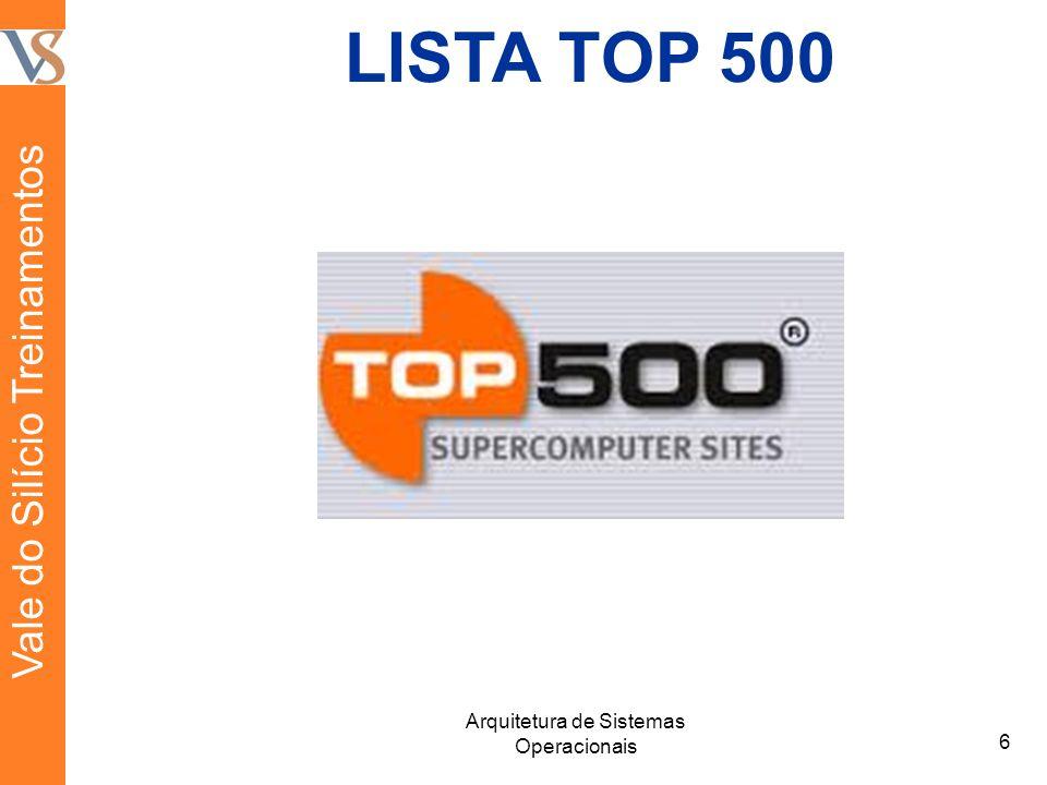 LISTA TOP 500 6 Arquitetura de Sistemas Operacionais Vale do Silício Treinamentos