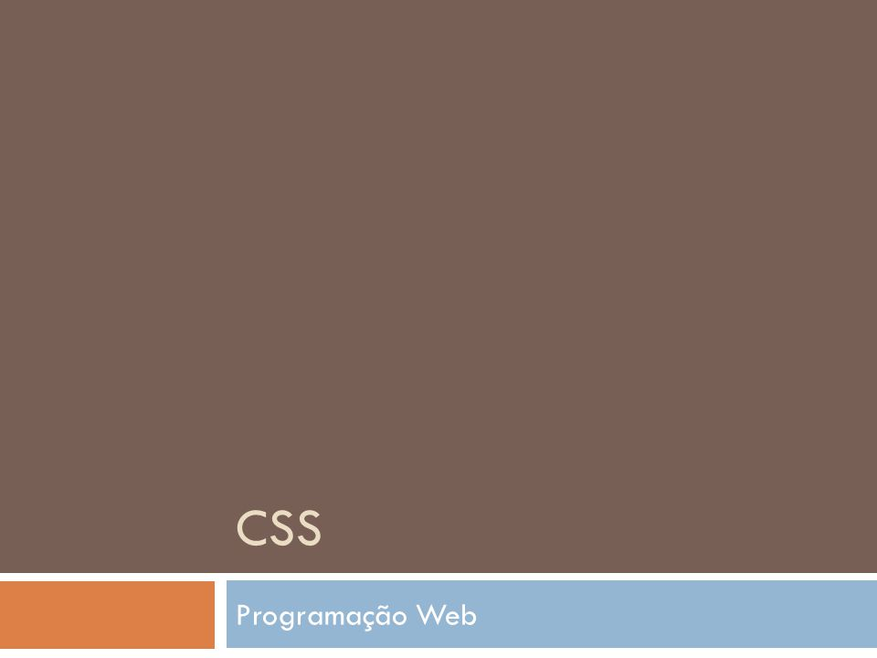 CSS Programação Web