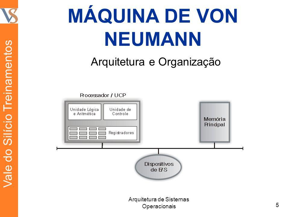 MÁQUINA DE VON NEUMANN 5 Arquitetura de Sistemas Operacionais Vale do Silício Treinamentos Arquitetura e Organização