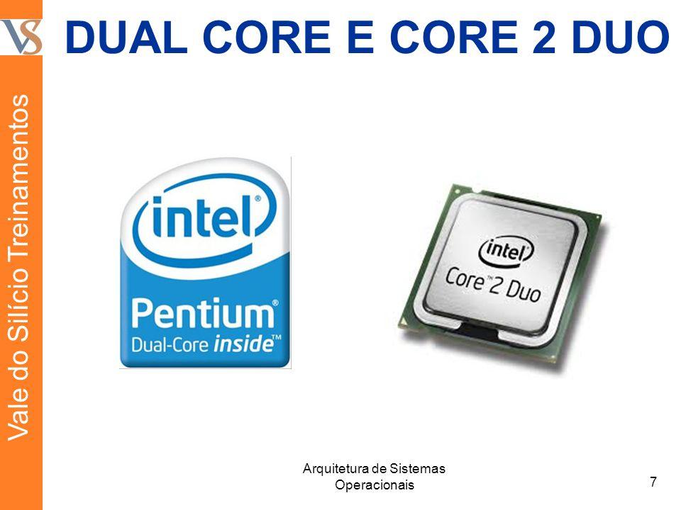 DUAL CORE E CORE 2 DUO 7 Arquitetura de Sistemas Operacionais Vale do Silício Treinamentos