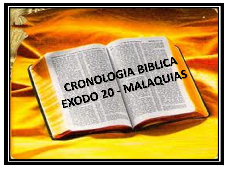 CRONOLOGIA BIBLICA EXODO 20 - MALAQUIAS