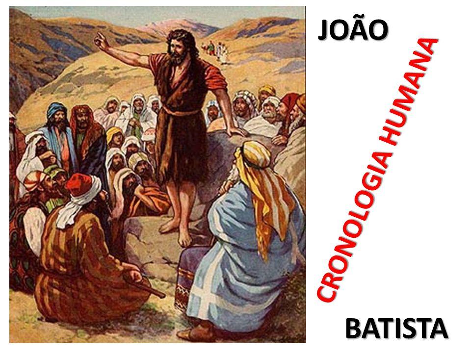 CRONOLOGIA HUMANA JOÃO BATISTA
