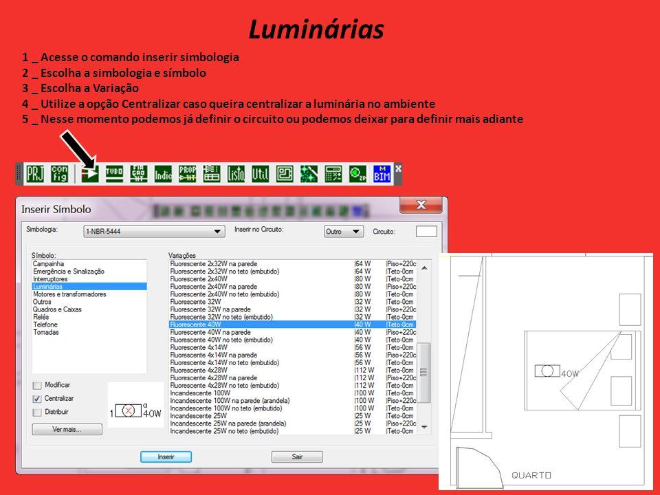 Diagramas, quadros e legendas 1 _ Ao acessar o comando diagramas, quadros e legenda podemos gerar o quadro de cargas, diagramas, quadro de disjuntores e etc.