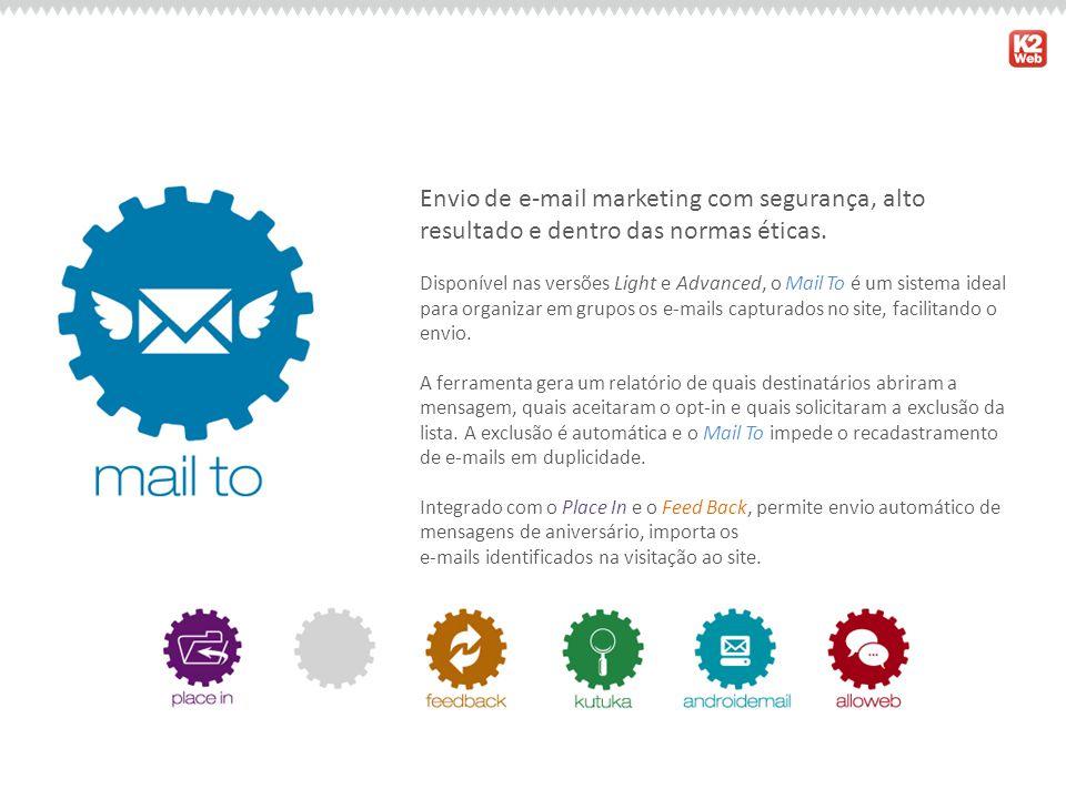 Envio de e-mail marketing com segurança, alto resultado e dentro das normas éticas. Disponível nas versões Light e Advanced, o Mail To é um sistema id